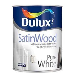 Dulux SatinWood Pure white