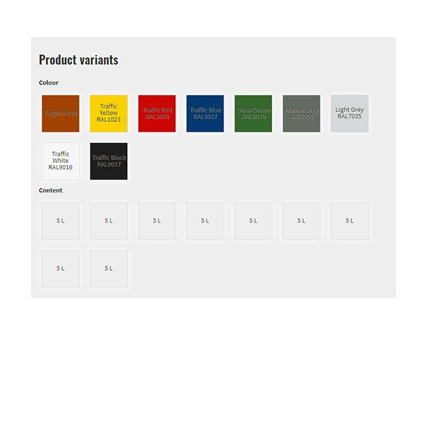Tarmacoat colour options