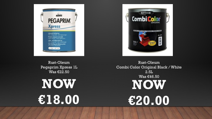 Special offers on Rust-Oleum and Mathys products - limited offer