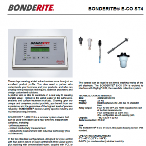 BONDERITE® E-CO ST4 - part of the Bonderite range at Carbon Paint Centre in Dublin