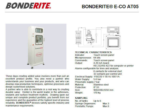 BONDERITE E-CO AT05