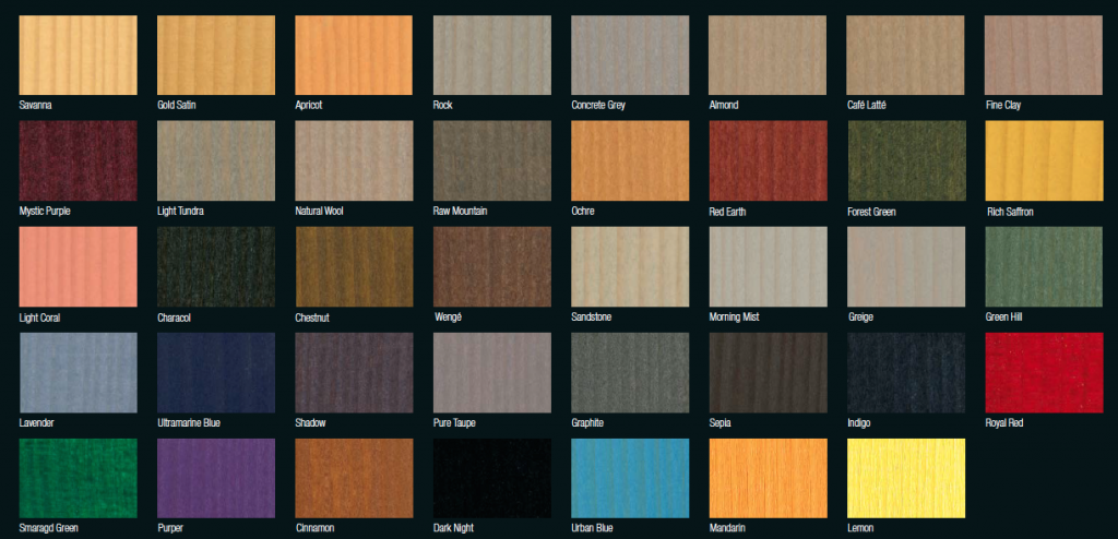 Colour card - Never Ending Impressions range