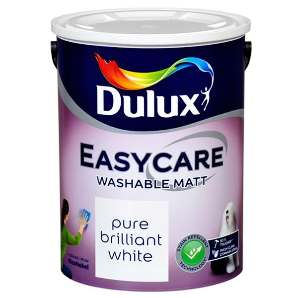 Dulux Easycare Matt 5L Pure Brilliant White