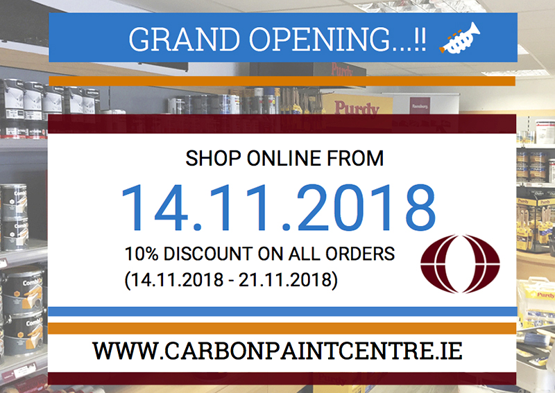 CarbonPaintCentre.ie launches online