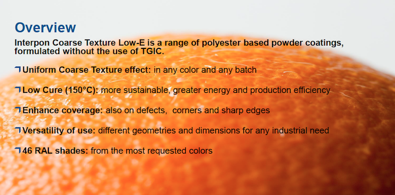 Overview of Interpon Coarse Texture Low-E