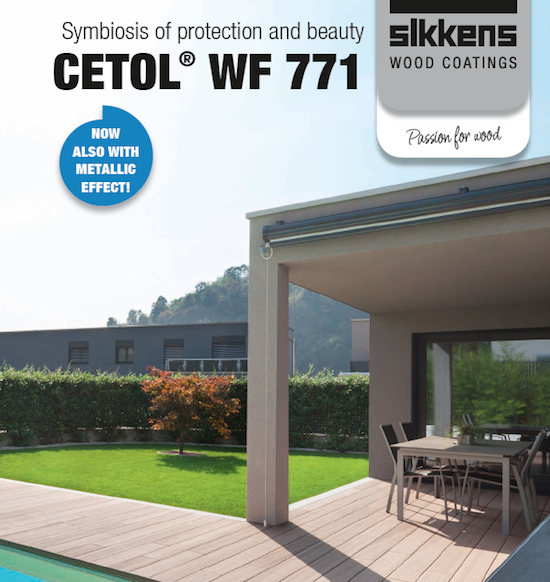 Cetol by Sikkens - promo graphic for wood finishing product