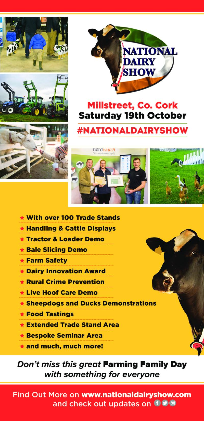 Poster promoting National Dairy Show