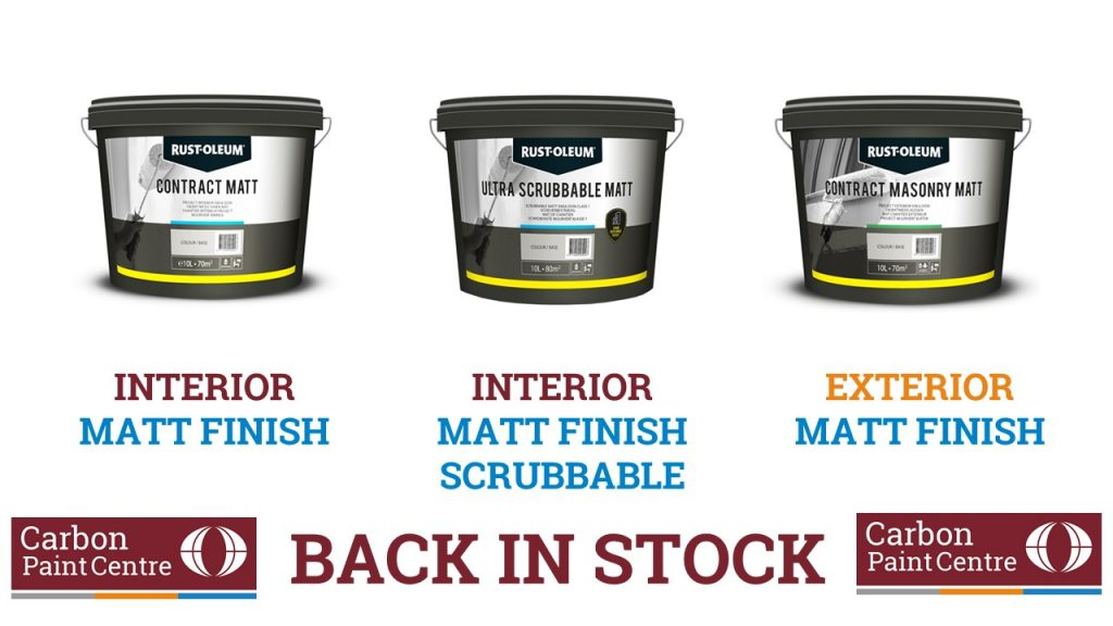 Interior and exterior white paint is back in stock - order online today