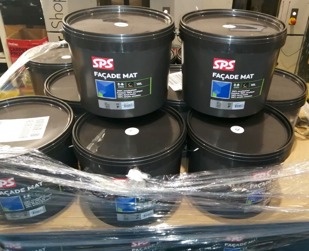 SPS PAINTS - photo of stock that has just arrived
