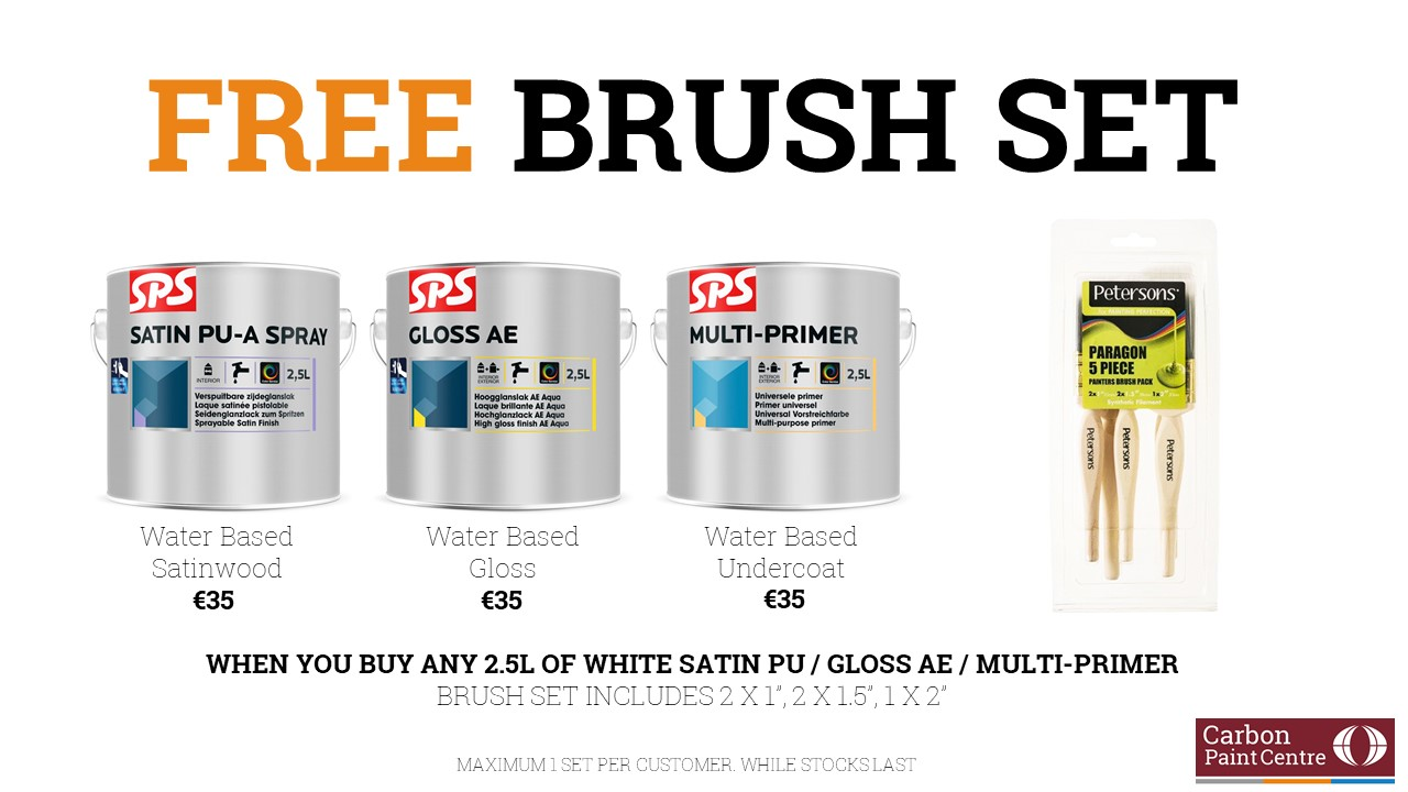 FREE BRUSH SET OFFER with SPS Paints