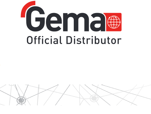 "Promotional image featuring text: ""GEMA Official Distribtor""GEMA"