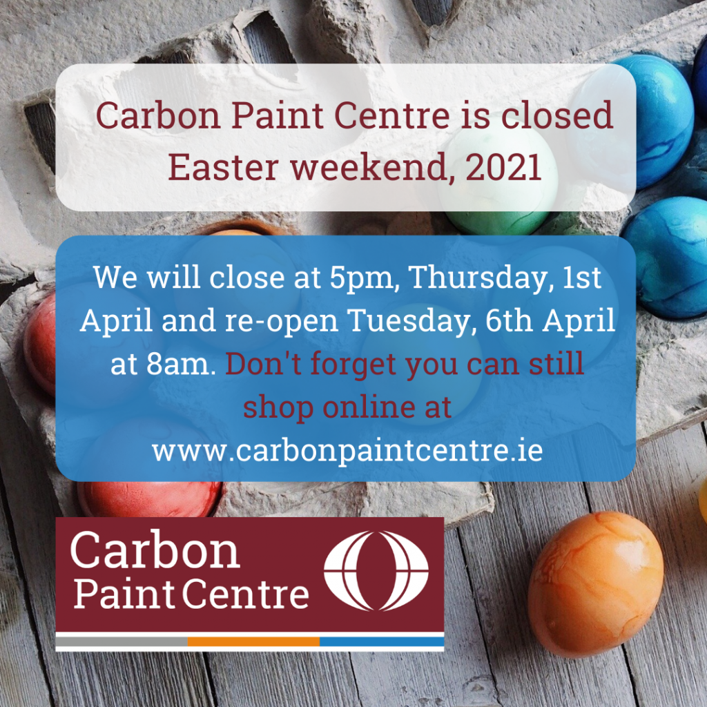 Carbon Paint Centre Easter opening hours, 2021