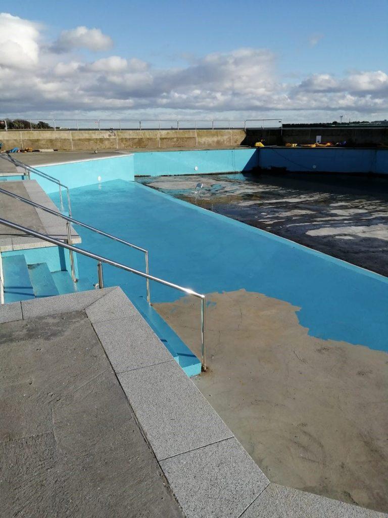 Swimming pool refurbishment project in progess
